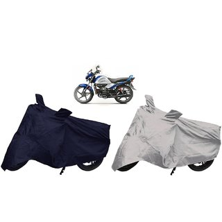 Stylobby Navy Blue And Silver Bike Cover Hero Splendor Ismart Pack Of 2