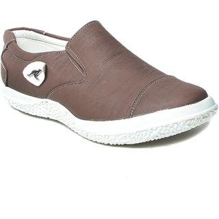 Blue Tuff Men Casual Canvas Shoes - BT-502-Brown