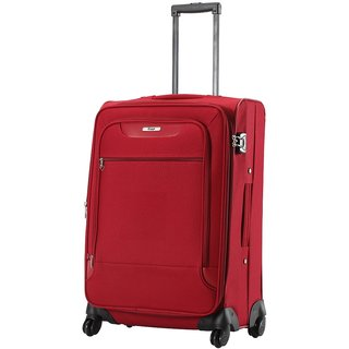 VIP Polyester Red Soft Sided Suitcase