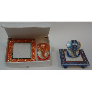 Marble Choki Ganesha Orange
