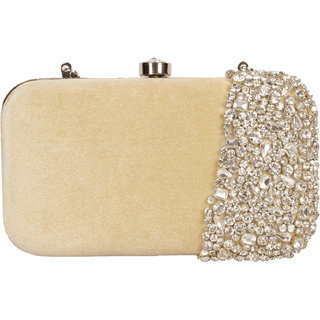 Lizzie Hand-Held Bag velvet snap button clutch
