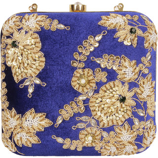 Lizzie Hand-Held Bag velvet snap button clutch