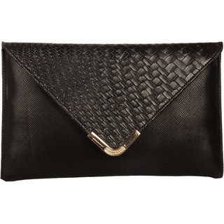 Lizzies Women Party Black PU clutch