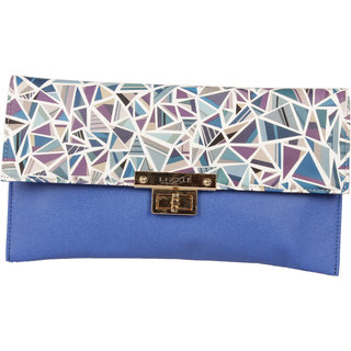 Lizzies  casual Hand-Held Blue Clutch