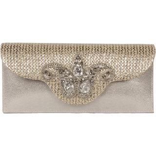 Lizzies womens Casual Silver Clutch