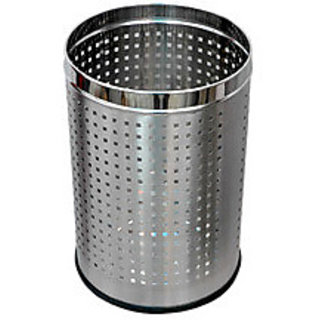 STAINLESS STEEL DUSTBIN SET OF 2 +FREE