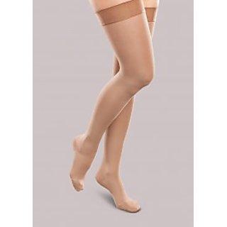 Skin Colour Stockings combo with tiktak hair bumpit