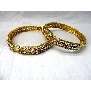Antique Design Gold Plated White
