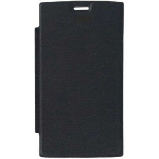 Mussa Flip Cover for Intex Aqua Power HD - Black