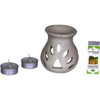 Garden Pleasure White Candle Aroma Oil Diffuser With Le