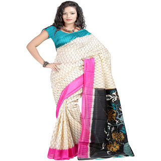 Cozee Shopping Printed Bhagalpuri Art Silk Sari