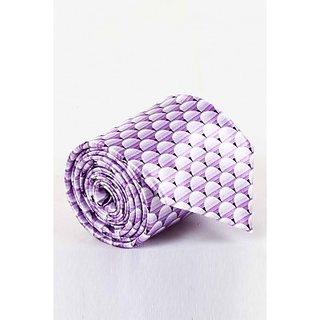 ST MARC Purple Silk Printed Tie (SK52285630)