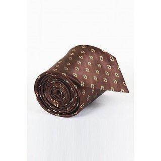 ST MARC Brown Silk Printed Tie (SK52285669)