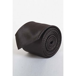 ST MARC Dark Black Narrow Tie ( NRPLN53480613)