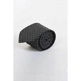 ST MARC Gray and Black Narrow Printed Tie (NRPRNT65490609)