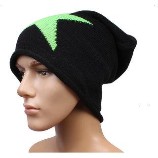 Sushito Black Ear Warming Woolen Cap JSMFHCP1484