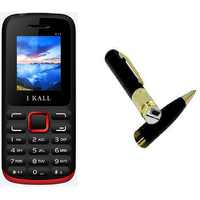 Combo Of K11 Multi Media Mobile Red With Spy Pen Camera