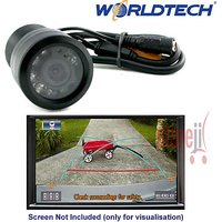 Worldtech NV 8 LED Night Vision Car Reverse Parking Camera Waterproof