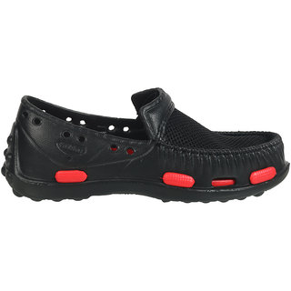 Action Shoes 1218-BLACK-RED Men Moccasins
