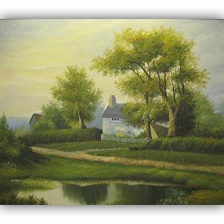 Vitalwalls Landscape Painting Canvas Art Printon Wooden Frame Scenery-268-F-45cm