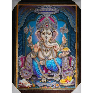 Lard Ganesha Unbreakable Canvas Scenery 45X60 cm