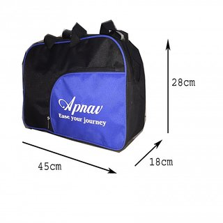 Apnav Black-Blue Gym Bag