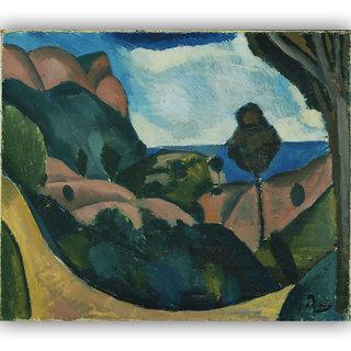 Vitalwalls Landscape Painting Canvas Art Printon Wooden Frame Scenery-305-F-60cm