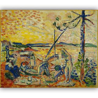 Vitalwalls Landscape Painting Canvas Art Print. Scenery-307-45cm