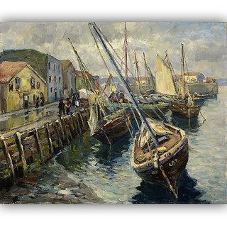 Vitalwalls Landscape Painting Canvas Art Print. Scenery-311-45cm