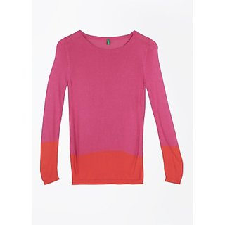 ARROW Casual Full Sleeve Solid Womens Top 100 Viscose Full Sleeve pink color