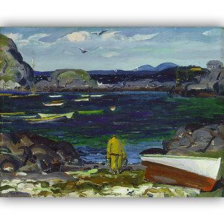 Vitalwalls Landscape Painting Canvas Art Printon Wooden Frame.Scenery-401-F-60cm