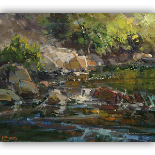 Vitalwalls Landscape Painting Canvas Art Print.Scenery-409-30cm