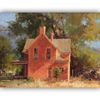 Vitalwalls Landscape Painting Canvas Art Printon Wooden Frame.Scenery-410-F-60cm