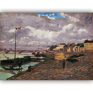 Vitalwalls Landscape Painting Canvas Art Printon Wooden Frame.Scenery-418-F-45cm