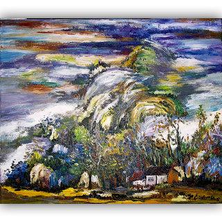 Vitalwalls Landscape Painting Canvas Art Printon Wooden Frame.Scenery-422-F-45cm