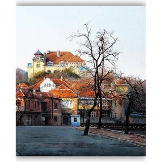 Vitalwalls Landscape Painting Canvas Art Print.Scenery-424-30cm