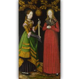 Vitalwalls Portrait Painting Canvas Art Print. Religion-307-45cm