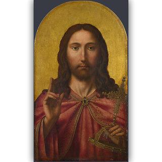 Vitalwalls Portrait Painting Canvas Art Printon Wooden Frame Religion-312-F-30cm