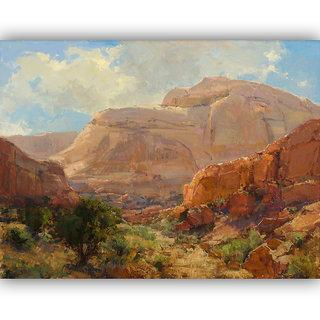 Vitalwalls Landscape Painting Canvas Art Printon Wooden Frame.Scenery-431-F-30cm