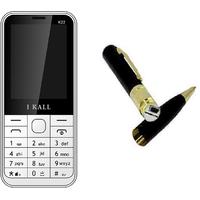 Combo Of K22 Multi Media Mobile Black With Spy Pen Camera