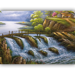 Vitalwalls Landscape Premium Canvas Art Print on Wooden Frame Scenary-110-F-30cm