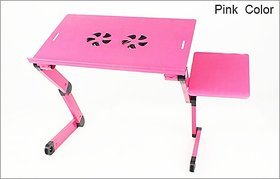 Heavy Duty Advance Foldable Zig Zag Laptop E-Table Pink - LPTT8P