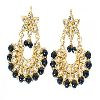 Buy Designing Artificial Jewellery Golden Alloy Drop Earrings Online