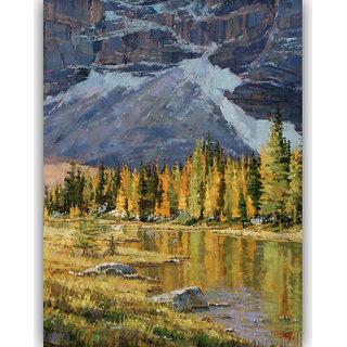 Vitalwalls Landscape Painting Canvas Art Printon Wooden Frame.Scenery-391-F-30cm
