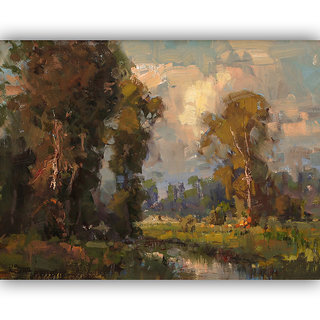 Vitalwalls Landscape Painting Canvas Art Print.Scenery-393-30cm