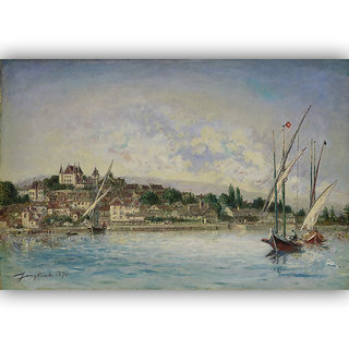 Vitalwalls Landscape Painting Canvas Art Print.Scenery-397-30cm