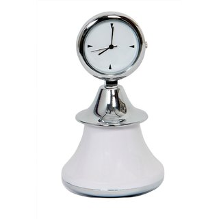 Table Clock Dancing Doll White
