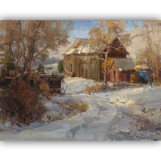 Vitalwalls Landscape Painting Canvas Art Printon Wooden Frame.Scenery-439-F-45cm