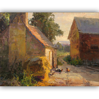 Vitalwalls Landscape Painting Canvas Art Printon Wooden Frame.Scenery-443-F-45cm