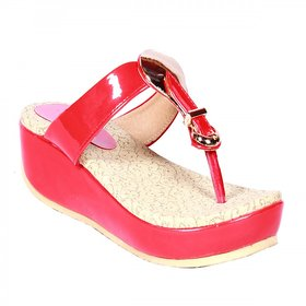 Funku Fashion Women's Red Wedges